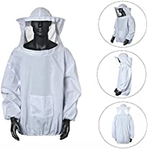 Cisixin Algodón Traje de Apicultura Protectora de traje chaqueta Ventilado Para Apicultor