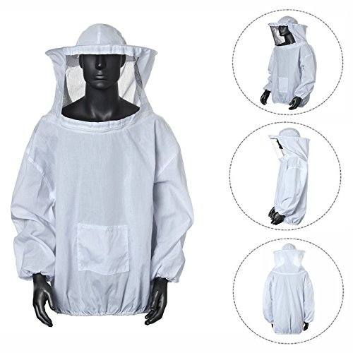 Cisixin Bienenanzug Schützende Bienenzucht Schleier Biene Jacke mit Hut