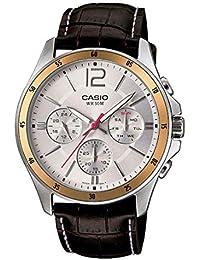 Casio Enticer Multi-Dial Men's White Watch - MTP-1374L-7AVDF (A835)