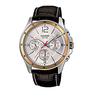 Casio Enticer Multi-Dial Men's White Watch – MTP-1374L-7AVDF (A835)