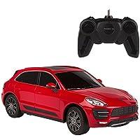 Rastar - Coche teledirigido 1:24, Porsche Macan Turbo (rojo) (ColorBaby