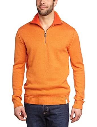 ESPRIT Herren Pullover Regular Fit 033EE2I007, Gr. 37/38 (S), Orange (812 dusty orange)