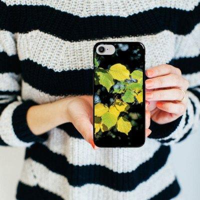 Apple iPhone X Silikon Hülle Case Schutzhülle Blätter Herbst Birke Hard Case schwarz