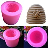 Kicode Plum Garden 3d tornillo de la colmena de Moldsoap, 3D silicona Vela Moldes para jabón y el molde de resina