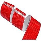 Aerzetix: 4.5m 5cm Bande rouge adhésive de marquage réfléchissante retroréfléchissante