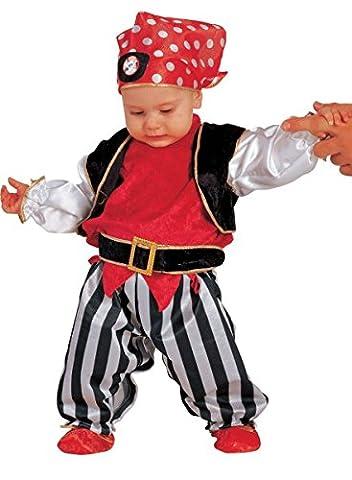 Premium Piratenkostüm für Jungen Alter 6-24 Monate – 5-teiliges Kinder-Kostüm Pirat für Fasching, Karneval, (Bestes Halloween-kostüme Für Kleinkinder)
