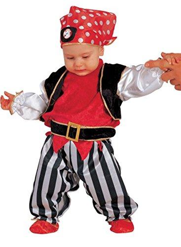 Premium Piratenkostüm für Jungen Alter 6-24 Monate – 5-teiliges Kinder-Kostüm Pirat für Fasching, Karneval, (Piraten Kleinkind Kostüme Lady)