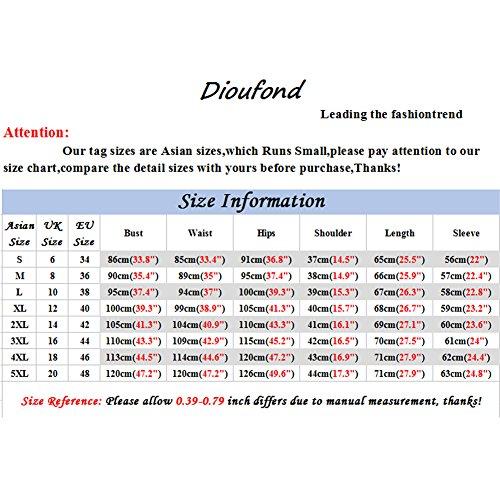 Dioufond® Blätter Muster Damen Langarm Bluse Regular Fit casual Bluse pflegeleicht Oberteile Grün