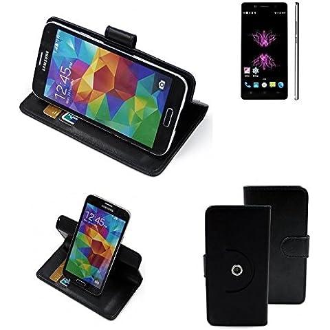 360 ° della copertura della cassa Smartphone Cubot X16, nero | Cassa del raccoglitore stand funzione Bookstyle. Migliore prezzo, migliore prestazione - K-S-Trade
