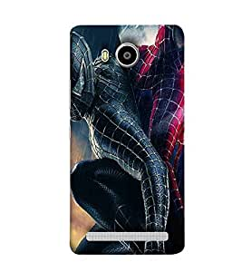 For Lenovo A7700 spider Printed Cell Phone Cases, superhero Mobile Phone Cases ( Cell Phone Accessories ), comic Designer Art Pouch Pouches Covers, cartoon Customized Cases & Covers, kids Smart Phone Covers , Phone Back Case Covers By Cover Dunia