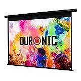 Duronic EPS115 /169 Ecran de Projection électrique 115 Pouces 16:9/255 x 143 cm - Fixation Mur ou Plafond - 4K Full HD 3D