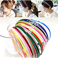 BHARATGAURAV Women's Plastic Teeth Hair bands/Headband/Hair Hoop - Headwear Accessory (12Pcs/set , Multicolour )