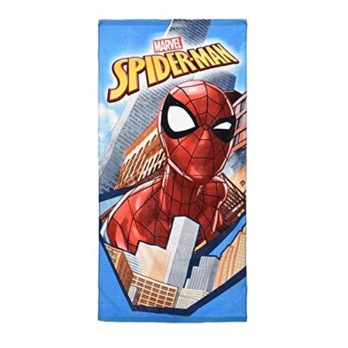 Marvel Spiderman Jungen Handtuch Gr. OneSize, City Scene (Disney Minion Kostüm)