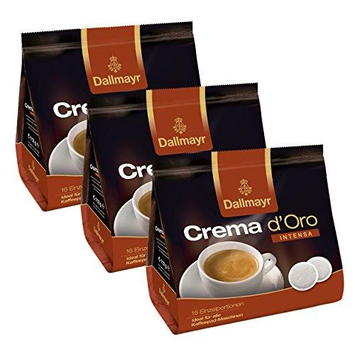 Dallmayr Crema dOro Intensa Kaffeepads, für alle Pad Maschinen, Röstkaffee, 48 Pads, á 7 g