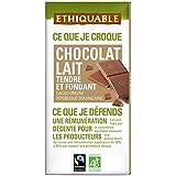 Ethiquable chocolat lait tendre et fondant nature bio 100g - ( Prix Unitaire ) - Envoi Rapide Et Soignée