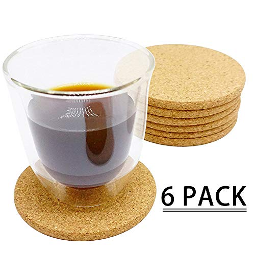 SAYGOGO 2018 Water-Absorbent Cork Coaster High Carbon No Stain