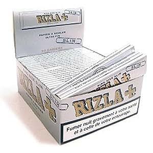 Rizla Boîte de 50 paquets de papier à rouler Argent King size Slim