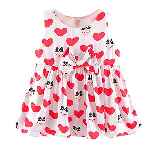 jerferr Kleid Säuglings Karikatur Druck Herz ärmellose Prinzessin Dress Clothes (London Herzen Rosen Kleider Und)