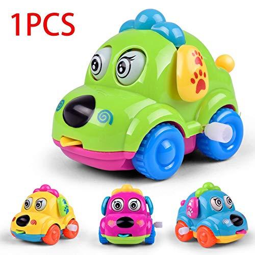 Oyamihin Kawaii Schöne Cartoon Tier Hundespielzeug Laufen Auto Uhrwerk Spielzeug Klassisches Spielzeug Neugeborenes Baby Pädagogisches Spielzeug-Multi-Color Gemischt
