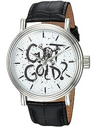 Disney Men's 'Pirates' Quartz Metal Casual Watch, Color:Black (Model: WDS000371)