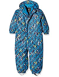 NAME IT Nitslope M Snowsuit AOP BL FO 316, Traje de Esquí para Niños, Multicolor (Dress Blues), 80