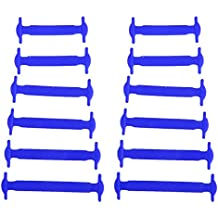 Conjunto de 12Pcs silicona elástica no tie cordones para zapatos, para niños