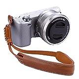Market&YCY Handgelenkschlaufe für Kamera, Kameraschlaufe Trageschlaufe, Für Canon NIikon Sony Pentax Etc Kamera DSLR SLR - Braun