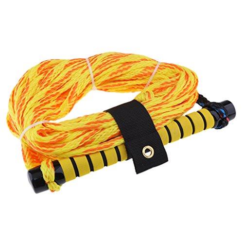 Gazechimp 1 Stü Gelb Sports Wasserskileine Leine Wakeboard Seil Hantel Rope