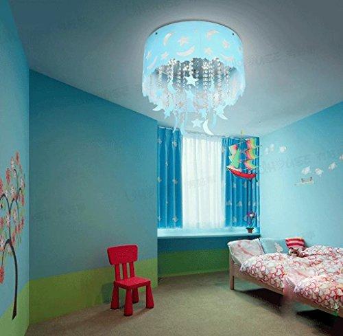 Blauer Mond und Sterne Kinderzimmer Kristall Decke Wohnzimmer Kronleuchter Schlafzimmer Jungen und M?dchen LED-Lampen Beleuchtung - 2
