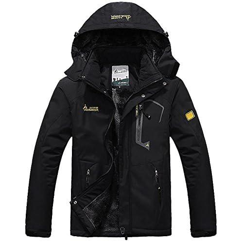51sidRcmZzL. SS500  - TACVASEN Men's Waterproof Fleece Mountain Jacket Windproof Warm Ski Jacket Multi-Pockets