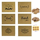 Tarjetas de agradecimiento de San Valentín con sobres y pegatinas para Día de Acción de Gracias, Día de San Valentín, Día de la Madre, 42 unidades, 6 diseños