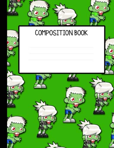 Zombie Kids Invasion Wide Ruled Composition Notebook
