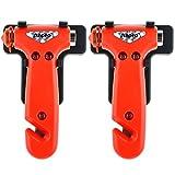 Anpro 2 Stück Auto Hammer Notfallhammer mit Gurtschneider, Gurtmesser für Auto, Bus