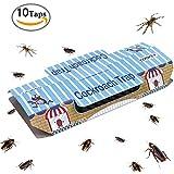 Cookey Cucaracha Trampas para el Control de Plagas en el Hogar Matar Cucarachas Hormigas Arañas y Otros Insectos con Cebo Incluido, no Tóxico y ECO-Friendly - Paquete de 10