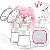 Double Electric Breast Pump Portable - Bplives Dual Breast Pump with Touch Screen