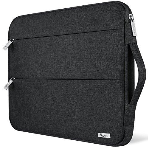 Voova 11.6-12 Zoll Laptophülle Laptoptasche Wasserdicht Notebooktasche Schlank Schutzhülle Kompatibel mit Laptop/Chromebook/Dell/HP/MacBook Air/Pro Retina (Schwarz)