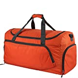 Oxa Lightweight Foldable Travel Duffel Bag with Shoes Bag, Orange
