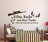Rifles Racks Et Deers Citations Anglais Chambre d'enfant Chambre Chambre Garçons Art...