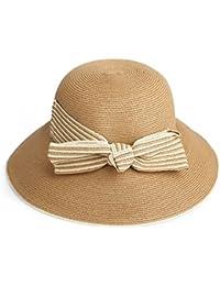 Lieyliso Sun Hat Donna Primavera E Estate Classic Cappello a Tesa Larga da  Spiaggia per Mare Cappello Estivo Pieghevole (Color… 7d90f0d3cc7b