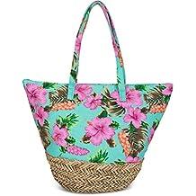Amazon.es: bolsas rafia - Turquesa