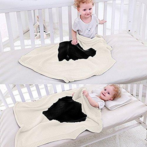 Gazechimp Weiche Strickdecke Schlafen Swaddle Wrap Für Kleinkind Baby - Grau, wie beschrieben