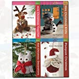 Twenty to Make Christmas Collection 4 Books Bundle (Mini Christmas Crochet, Mini Christmas Knits, Felt Christmas Decorations, Pompom Christmas) by Val Pierce (2016-11-09)