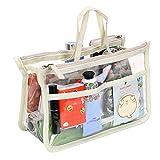 IGNPION Transparent PVC Insert Handbag Organizer 8 Pockets Travel Makeup Toiletry Wash Bag