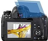 2x Crystal clear klar Schutzfolie für Canon EOS 77D Premium Displayschutzfolie Bildschirmschutzfolie Schutzhülle Displayschutz Displayfolie Folie