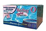 Traitement de piscine sans chlore Berling'O 2 / 4 m3. 12 sachets de 50 ml. Traitement doux et sans odeur pour piscines autoportantes. Assure la désinfection et la prévention des algues. Pour piscine de diamètre 2.44 / 3.05 m.
