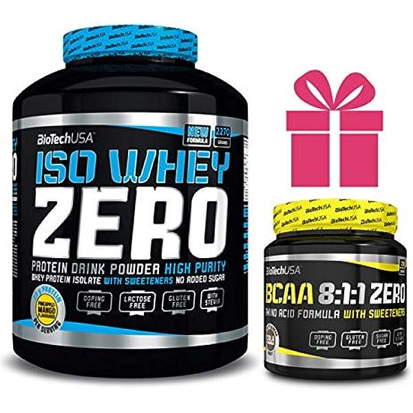 Iso whey zero 2,27 kgs vainilla + bcaa 180 grs: Amazon.es ...