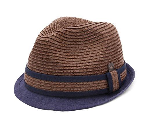 Dasmarca - Chapeau Trilby Paille Pliable - 2 Coloris - Homme ou Femme Paxton - Taille L - Cocoa