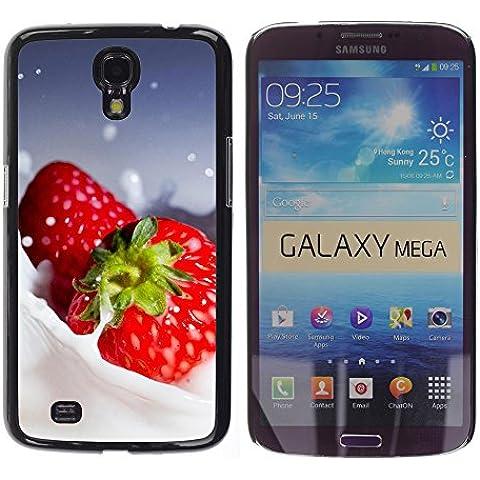 TORNADOCOVER Unico Immagine Rigida Custodia Case Cover Protezione Per SMARTPHONE Samsung Galaxy Mega 6.3 I9200 SGH-i527 - macro frutta cremoso fragole - Cremoso Fragola