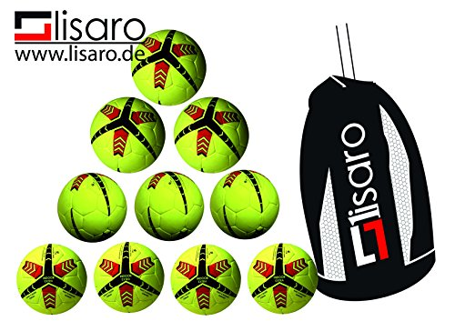 10_Indoor-Fussball / Lisaro Indoorballpaket aus Echt valurleder