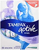 Tampax Tampax Pearl Plastic Unscented Lites Tampons, 18 each